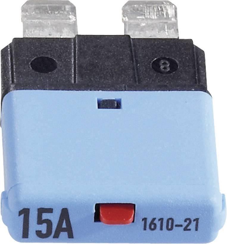 Automatická plochá pojistka CE1610-21-15A, 15 A, modrá