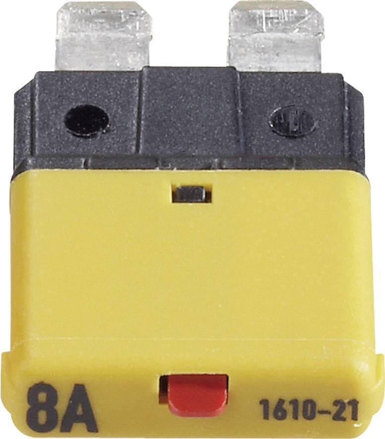 Automatická plochá pojistka CE1610-21-8A, 8 A, tmavě žlutá