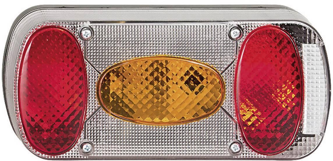 Zadné svetlo pre príves SecoRüt, 90446, 5 komorový, červená / oranžová / transparentná