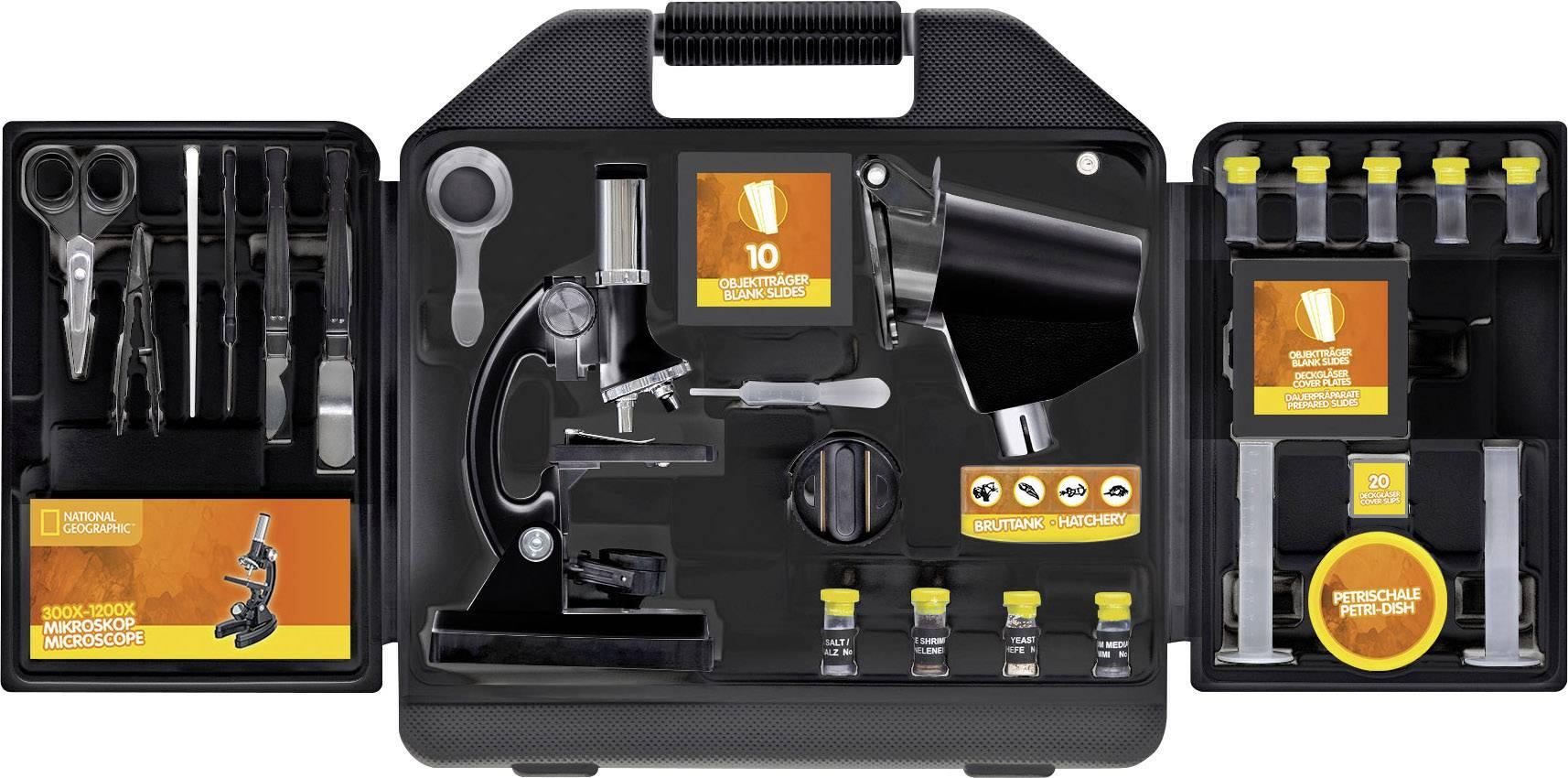 Detský mikroskop National Geographic 9118100, monokulárny, 1200 x