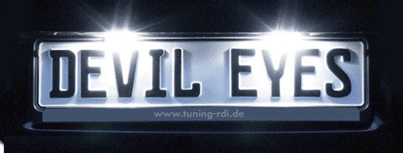 LED osvětlení SPZ Devil Eyes, univerzální