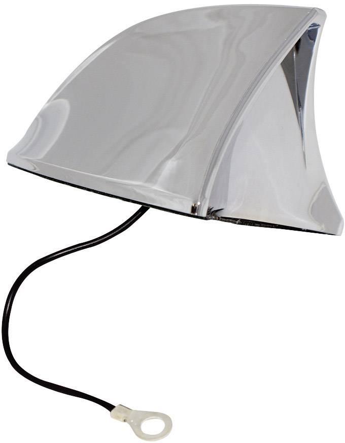 Hliníková anténa Eufab, žraločí tvar, chrom