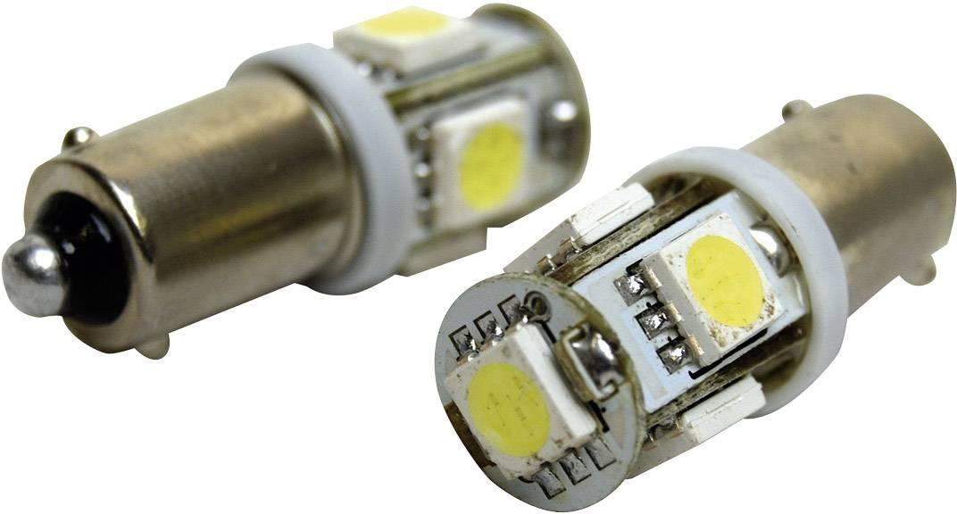 SMD LED žárovka Eufab BA9S, 13527, 1,5 W, BA9S, bílá, 2 ks