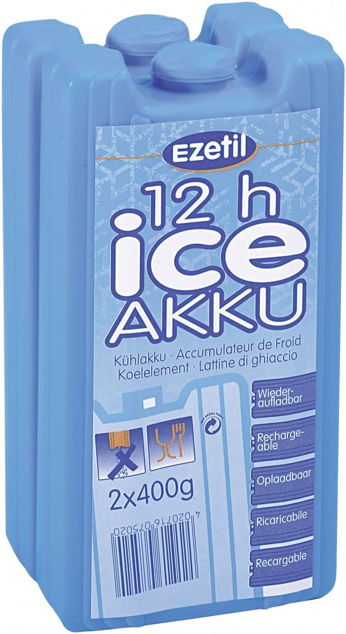 Chladiace akumulátory Ezetil IceAkku 2x400g, (d x š x v) 165 x 88 x 35 mm, 2 ks, modrá