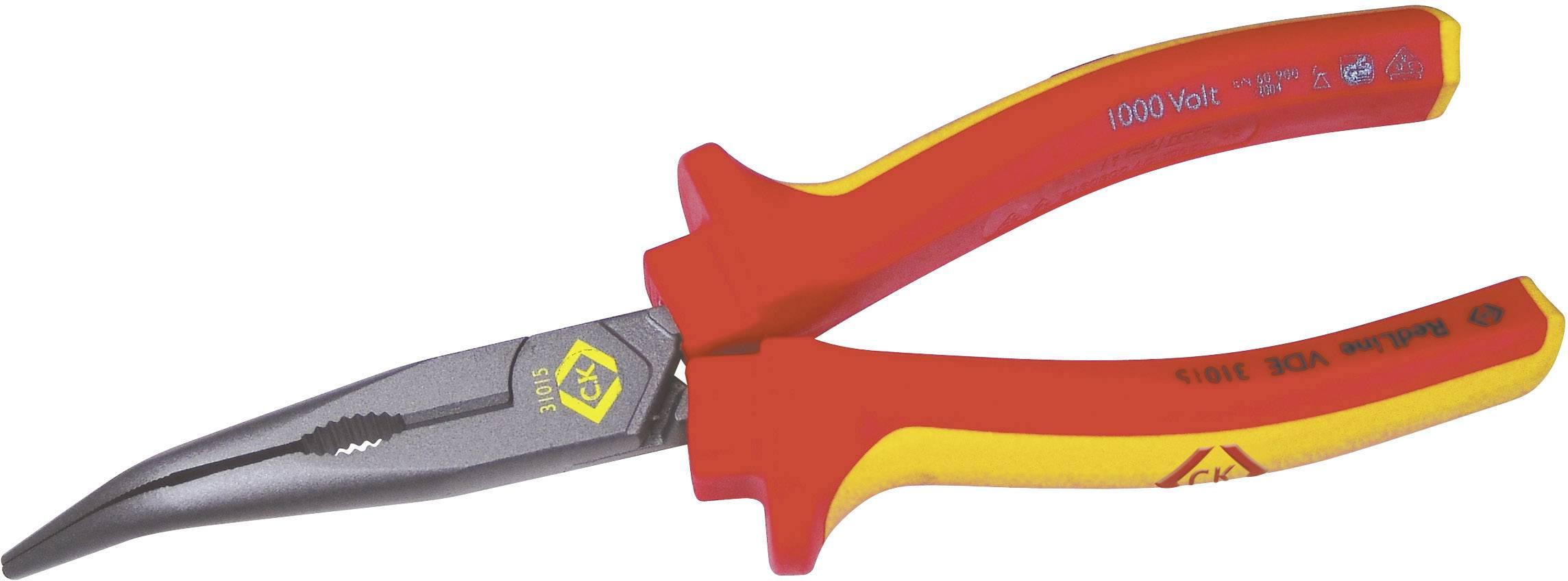 Špičaté kleště zahnuté VDE C.K. 431015, 200 mm