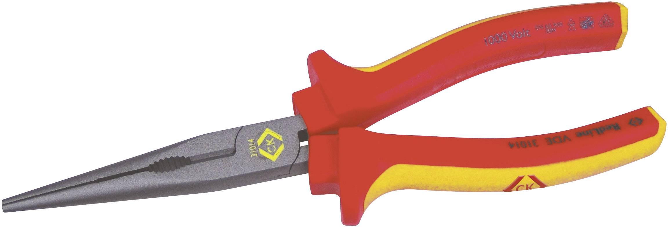 Špičaté kleště rovné VDE C.K. 431014, 200 mm