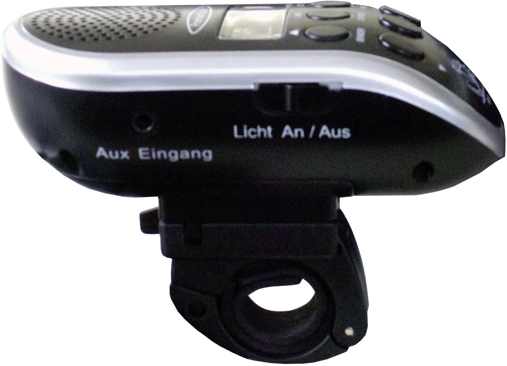 Rádio na řídítka kola s LED svítilnou, Security Plus BR 24, černá, stříbrná
