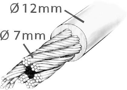 Kabelový zámek Security Plus K86, (Ø x d) 12 mm x 1200 mm, černá