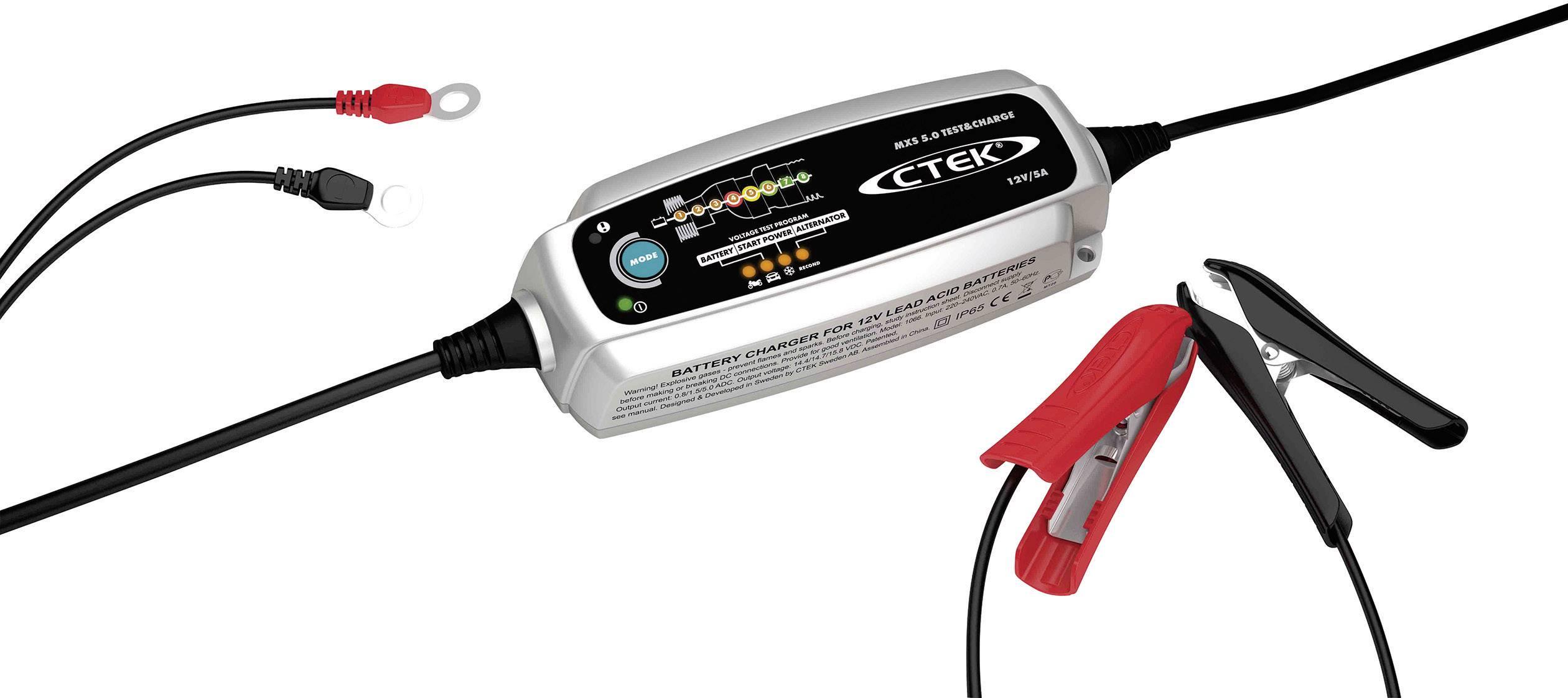 Automatická nabíječka autobaterií CTEK MXS 5.0, 0,8/5 A, 12 V