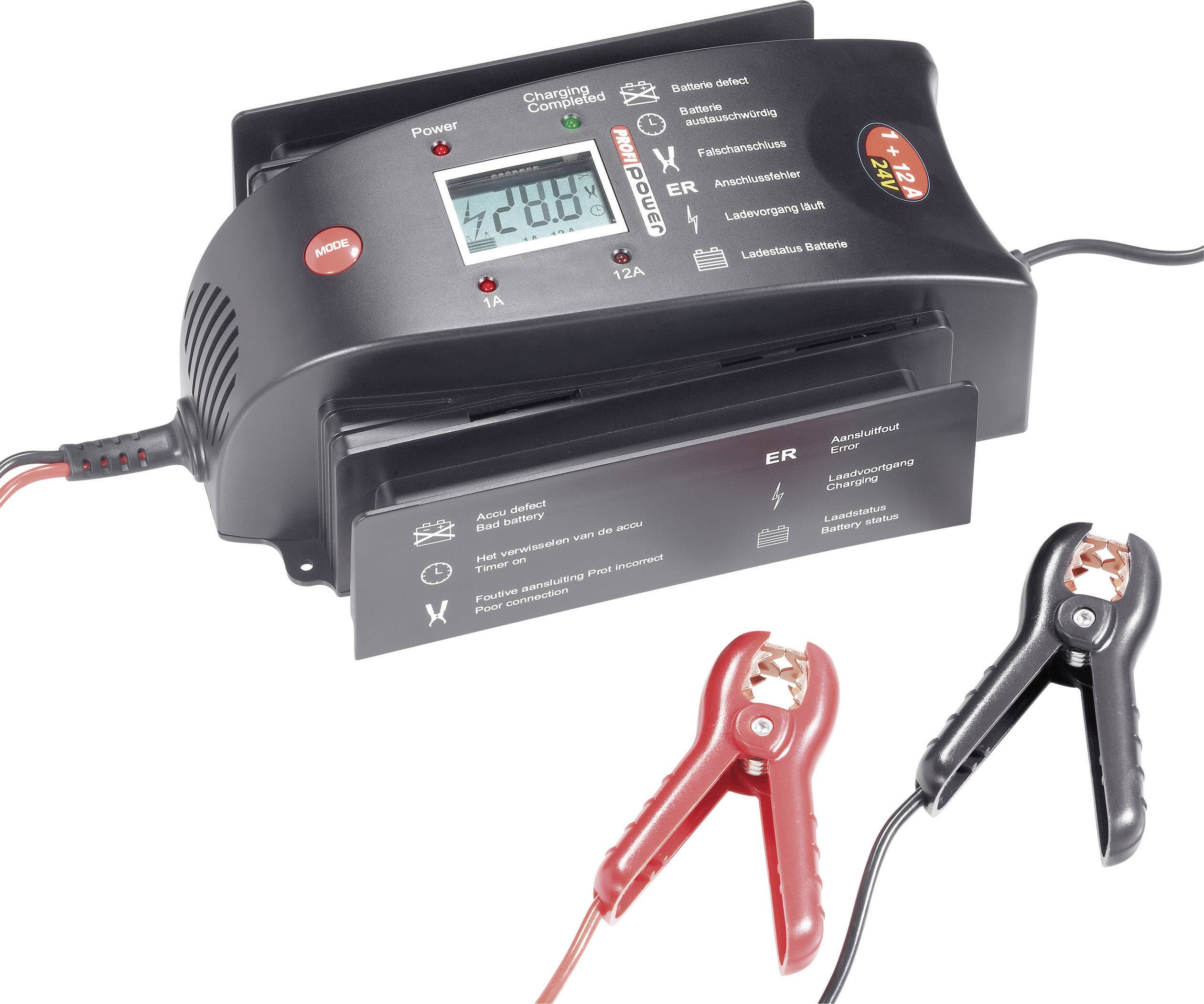 Nabíjačka autobatérie Profi Power LCD 1+12A, 24 V, 1 A, 12 A
