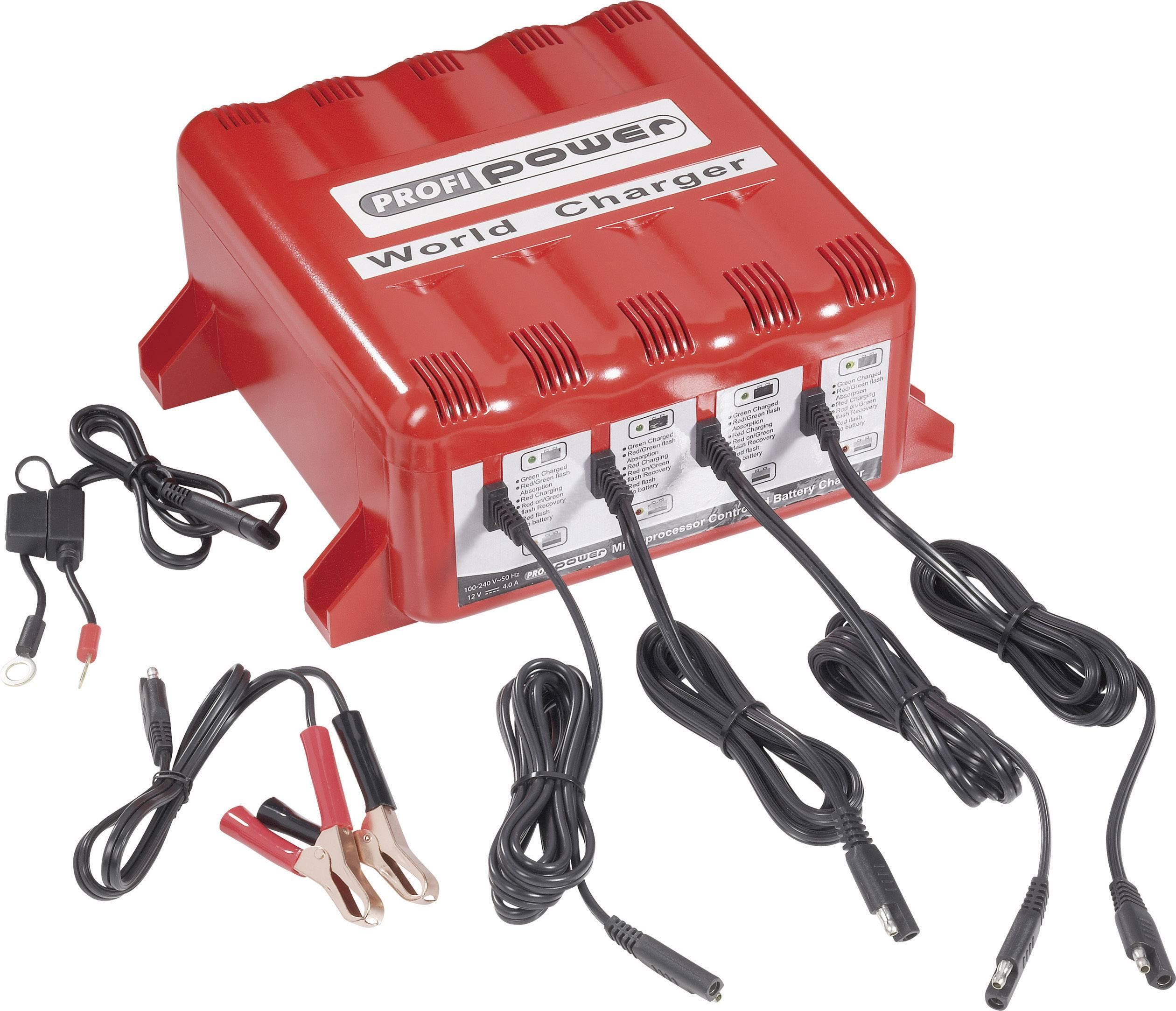 Nabíjačka autobatérie Profi Power 4er 4A12V World Charger, 12 V, 4 A