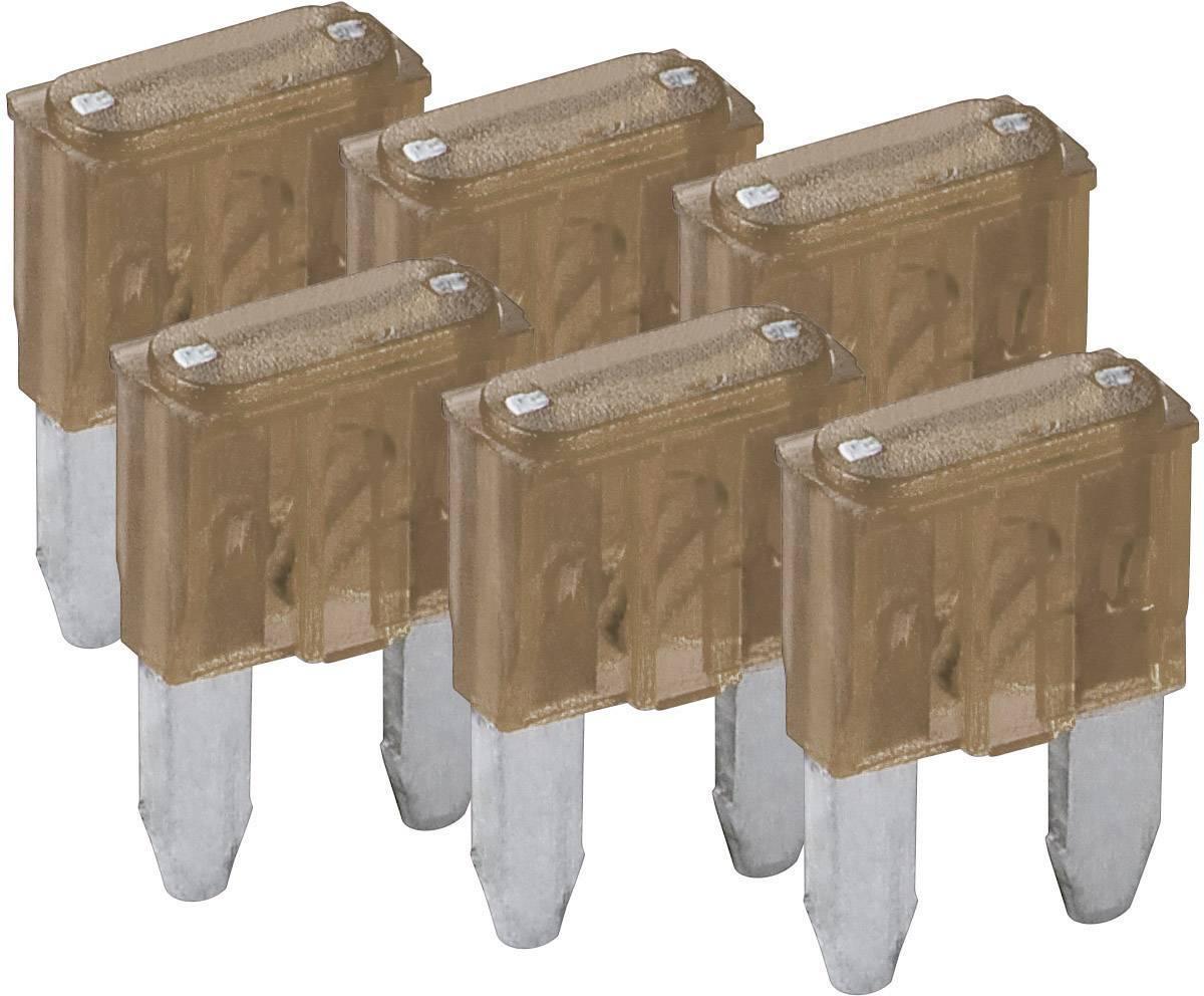 Sada miniatúrnych plochých autopoistiek Wentronic, 20388, 7,5 A, 6 ks