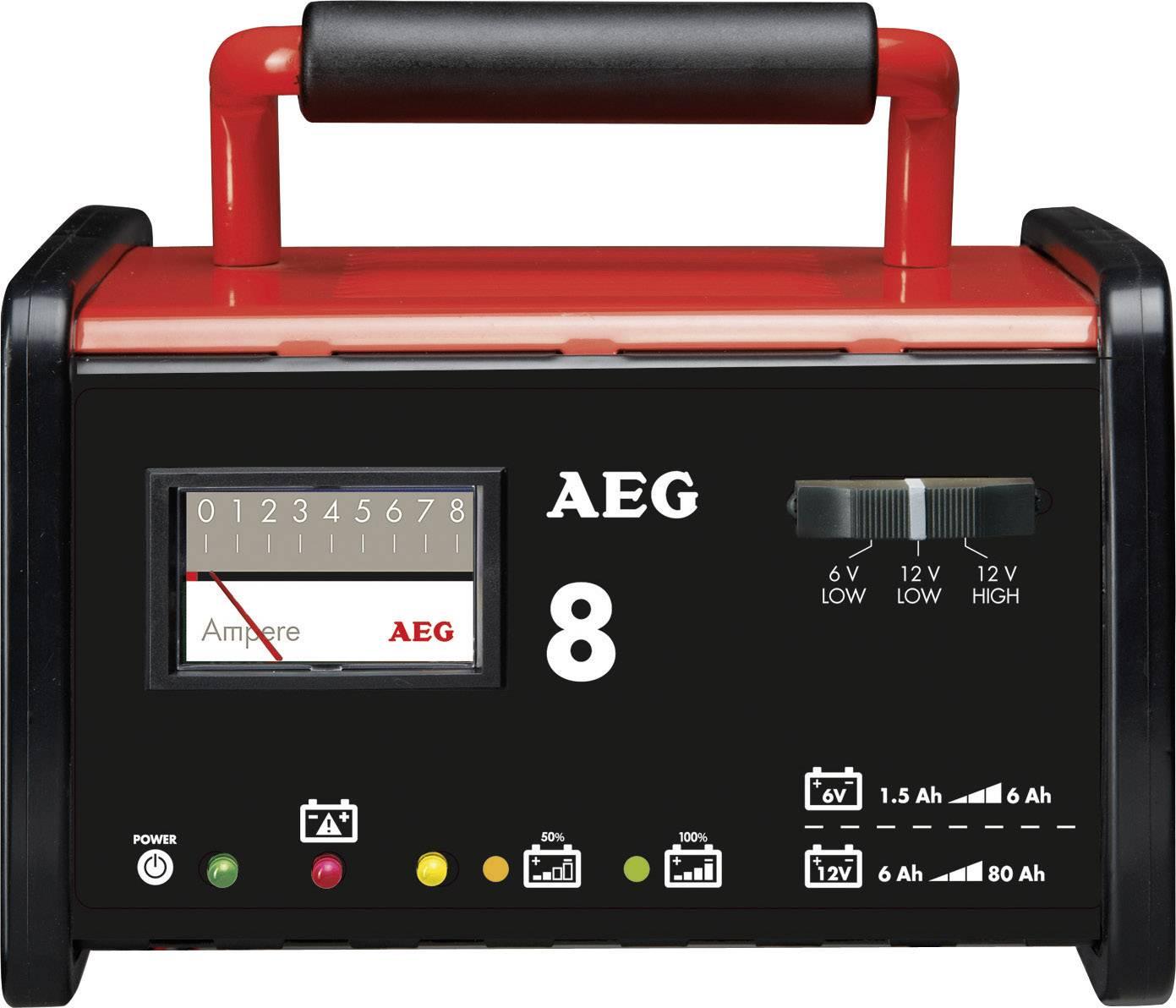 Dielenská nabíjačka AEG WM 8 2AEG97008, 6 V, 12 V, 7.2 A, 8 A