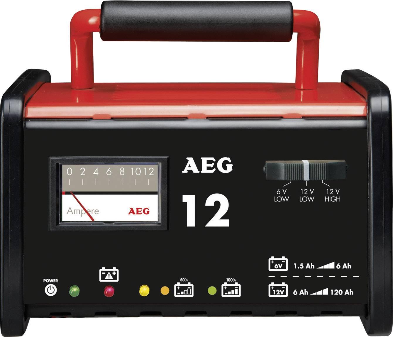 Dielenská nabíjačka AEG WM 12 2AEG97009, 6 V, 12 V, 12 A, 12 A