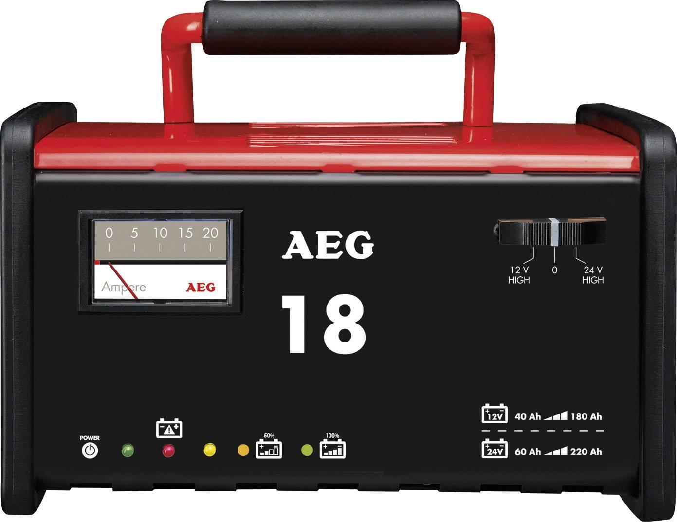 Dielenská nabíjačka AEG WM 18 2AEG97010, 12 V, 24 V, 18 A, 18 A