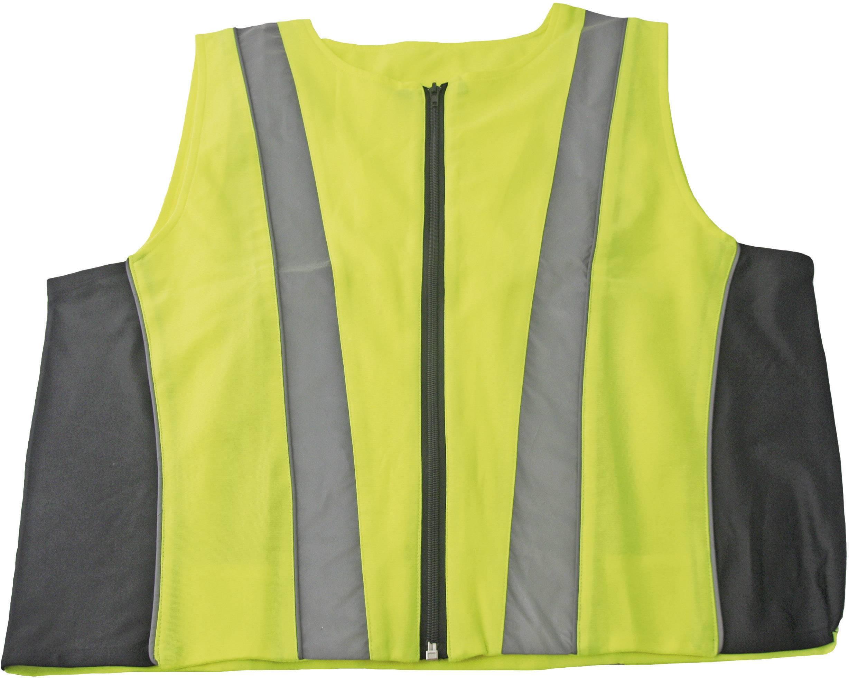 Bezpečnostná reflexná vesta, 10475, XL, žltá/sivá