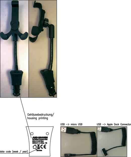 Držiak a USB nabíjačka