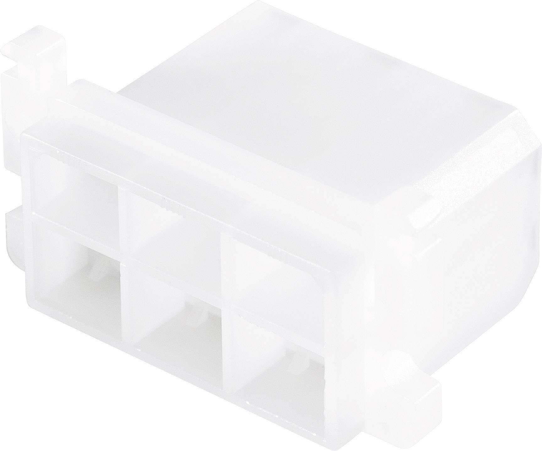 Konektor, 6,3 mm, 1 - 2,5 mm², 6pólové, transparentní