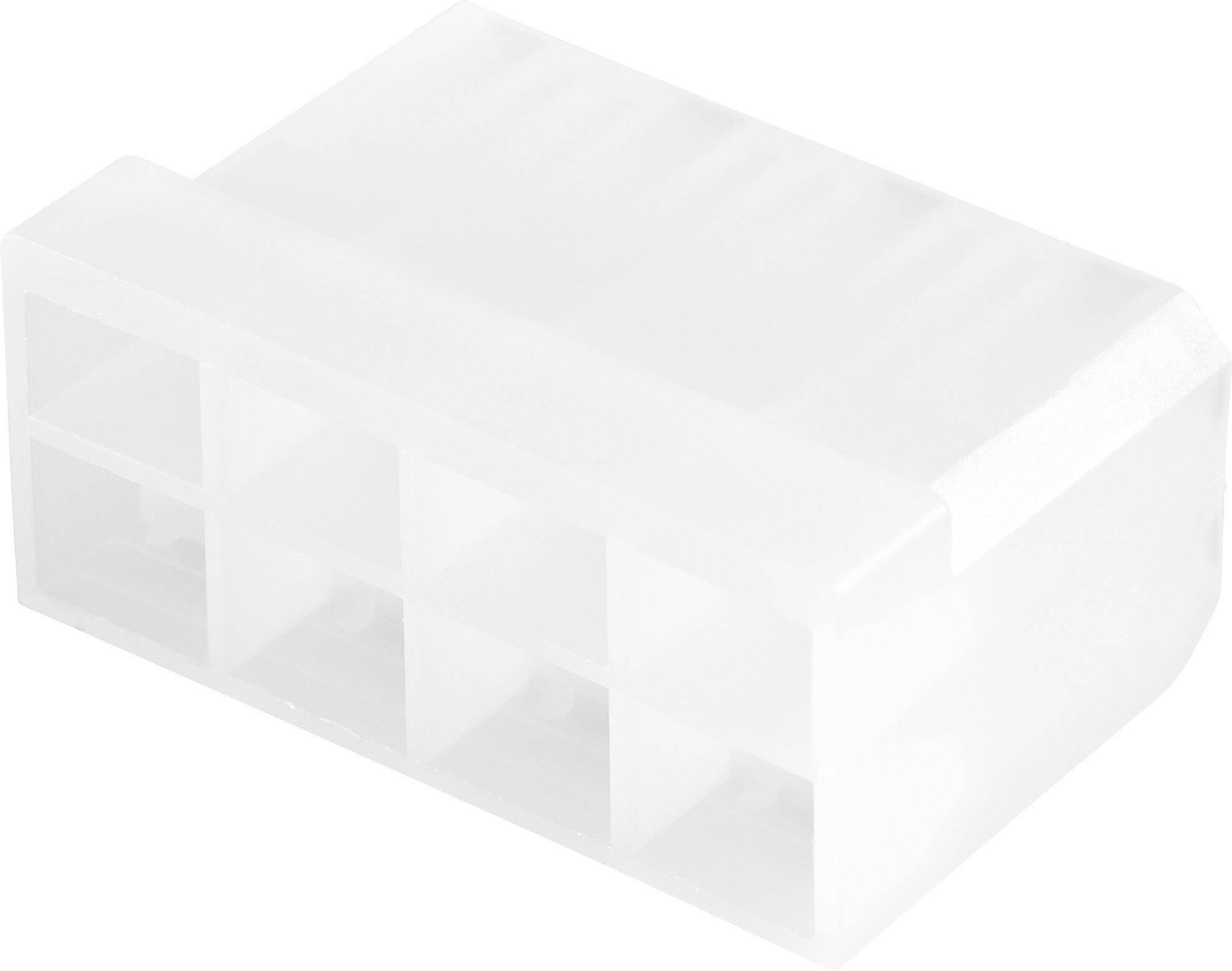 Konektor, 6,3 mm, 1 - 2,5 mm², 8pólové, transparentní