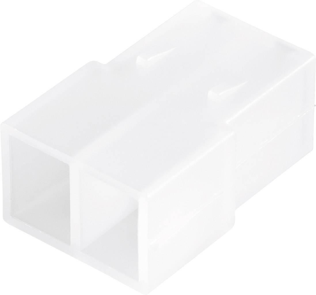 Konektor, 6,3 mm, 1 - 2,5 mm², 2pólové, transparentní