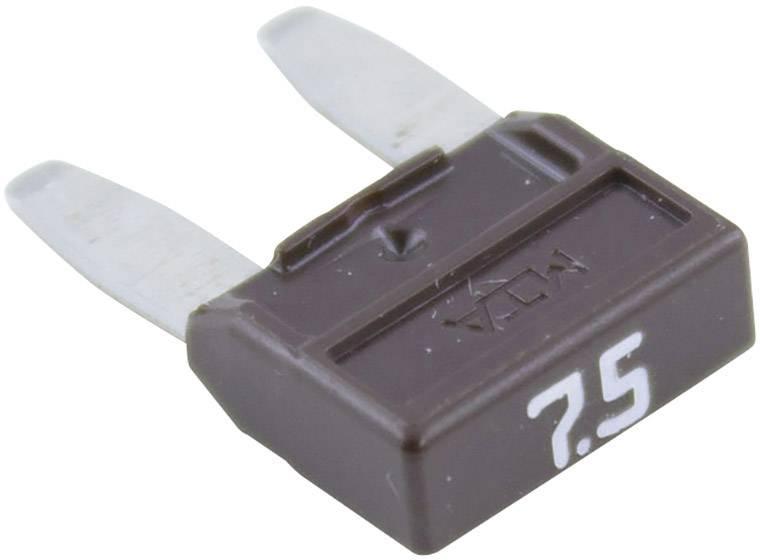Mini plochá pojistka 341.126, 330.026, 7.5 A, hnedá, 1 ks