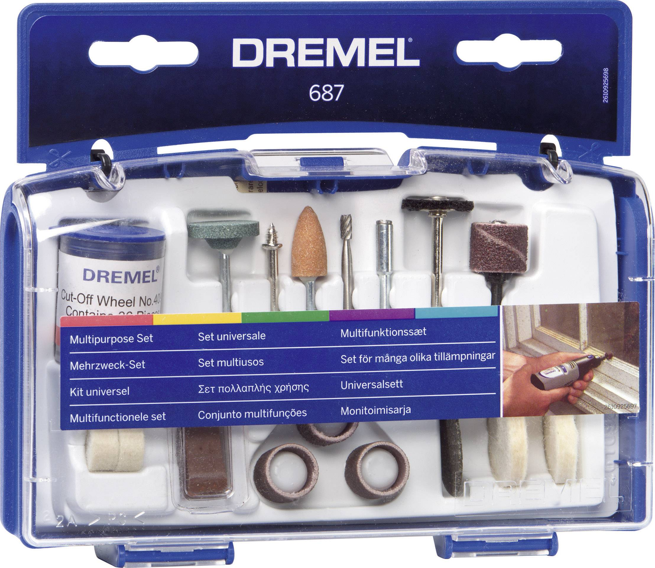 Čistící / leštící sada 52 ks, Dremel 687
