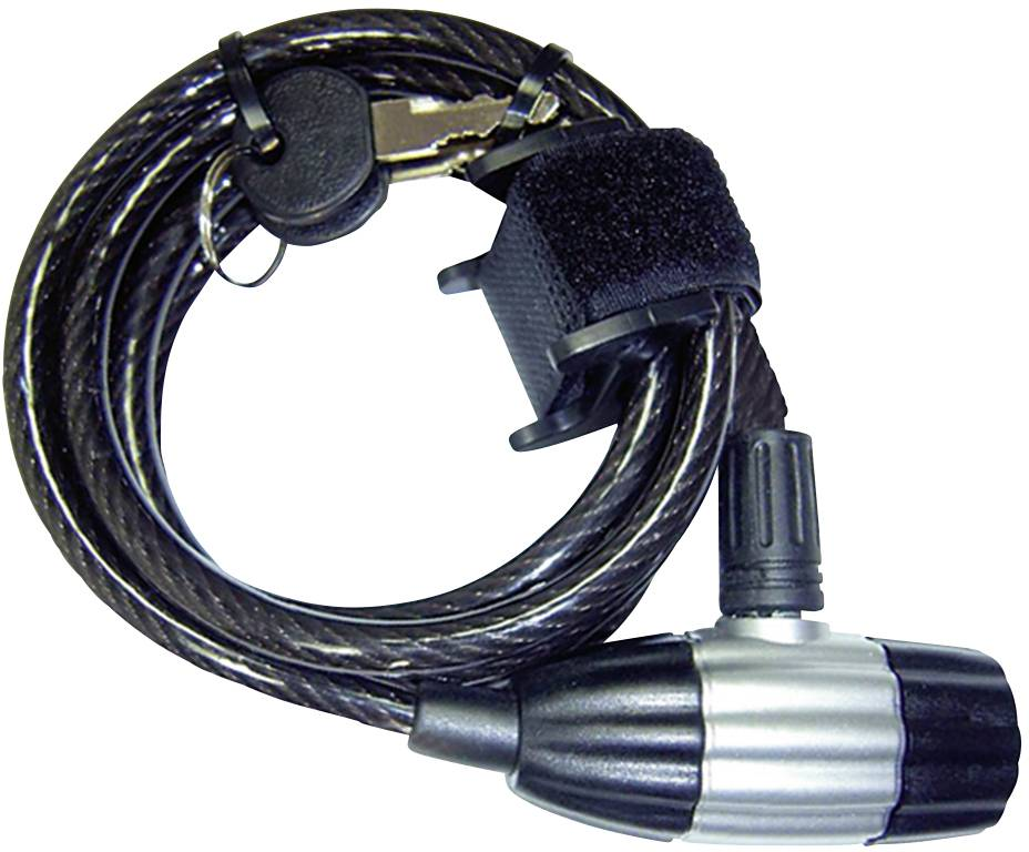 Lankový zámok Security Plus SK 55, (Ø x d) 8 mm x 1800 mm, čierna