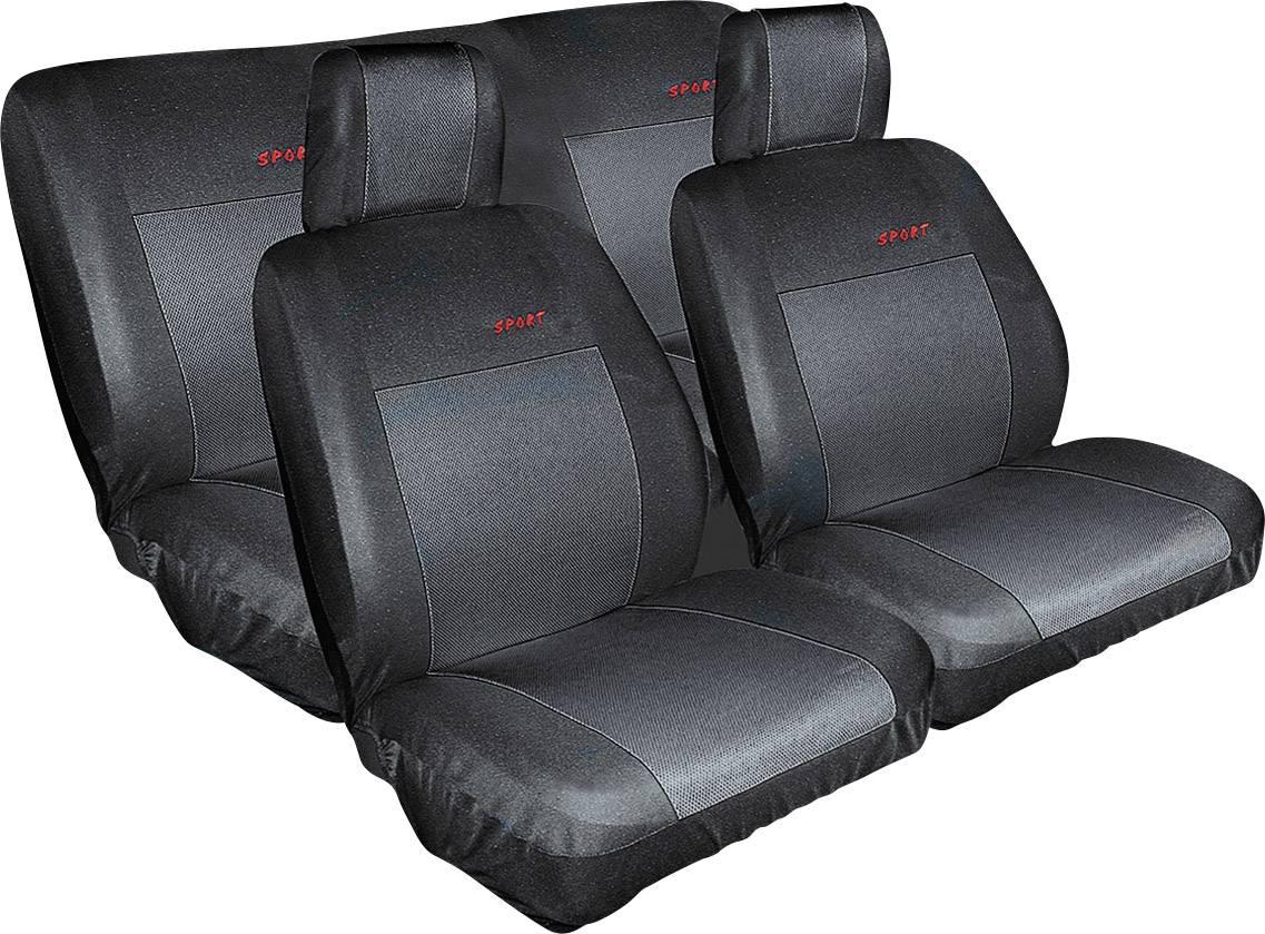 Autopoťahy Eufab 28059, bavlna, polyester, čierna