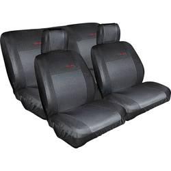 Autopotahy Eufab 28059, zadní sedadlo, sedadlo řidiče, sedadlo spolujezdce, bavlna, polyester, černá
