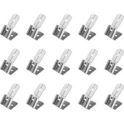 Faston zásuvka 852105 s odbočkou, 6.3 mm x 0.8 mm, 180 °, bez izolace, kov, 15 ks