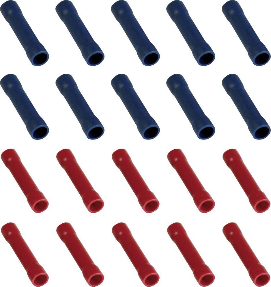 Krimpovacia spojka 323007, 0.205 mm² (min), úplne izolované, červená, modrá, 20 ks