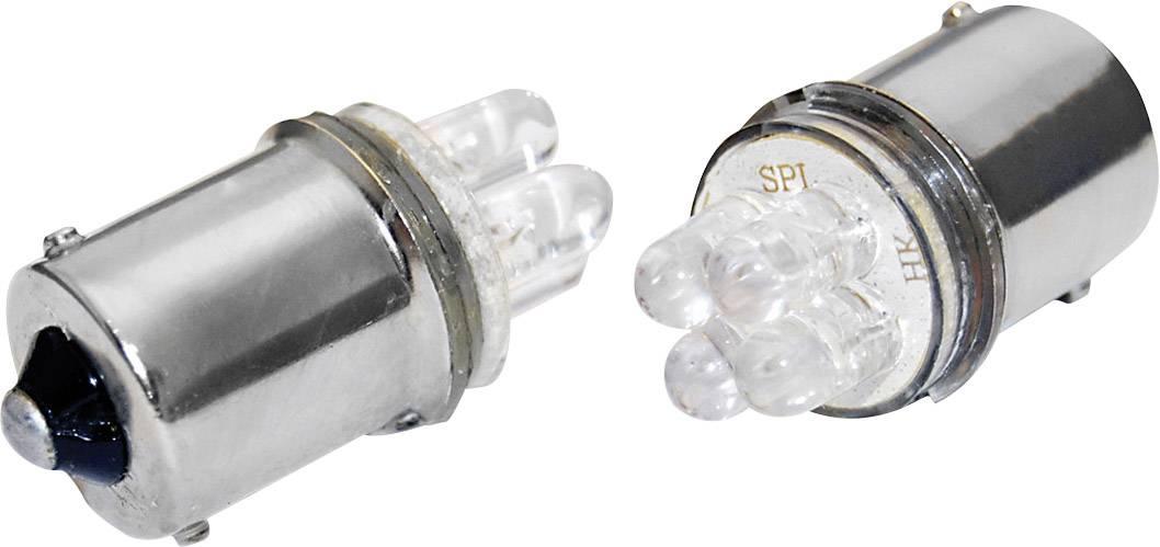 LED žárovka Eufab, 13465, 12 V, BA15s, bílá, 2 ks