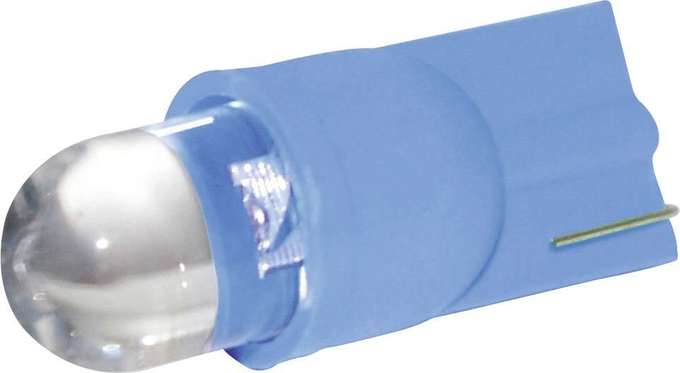 LED žárovka Eufab, 13287, 12 V, T10, modrá, 2 ks