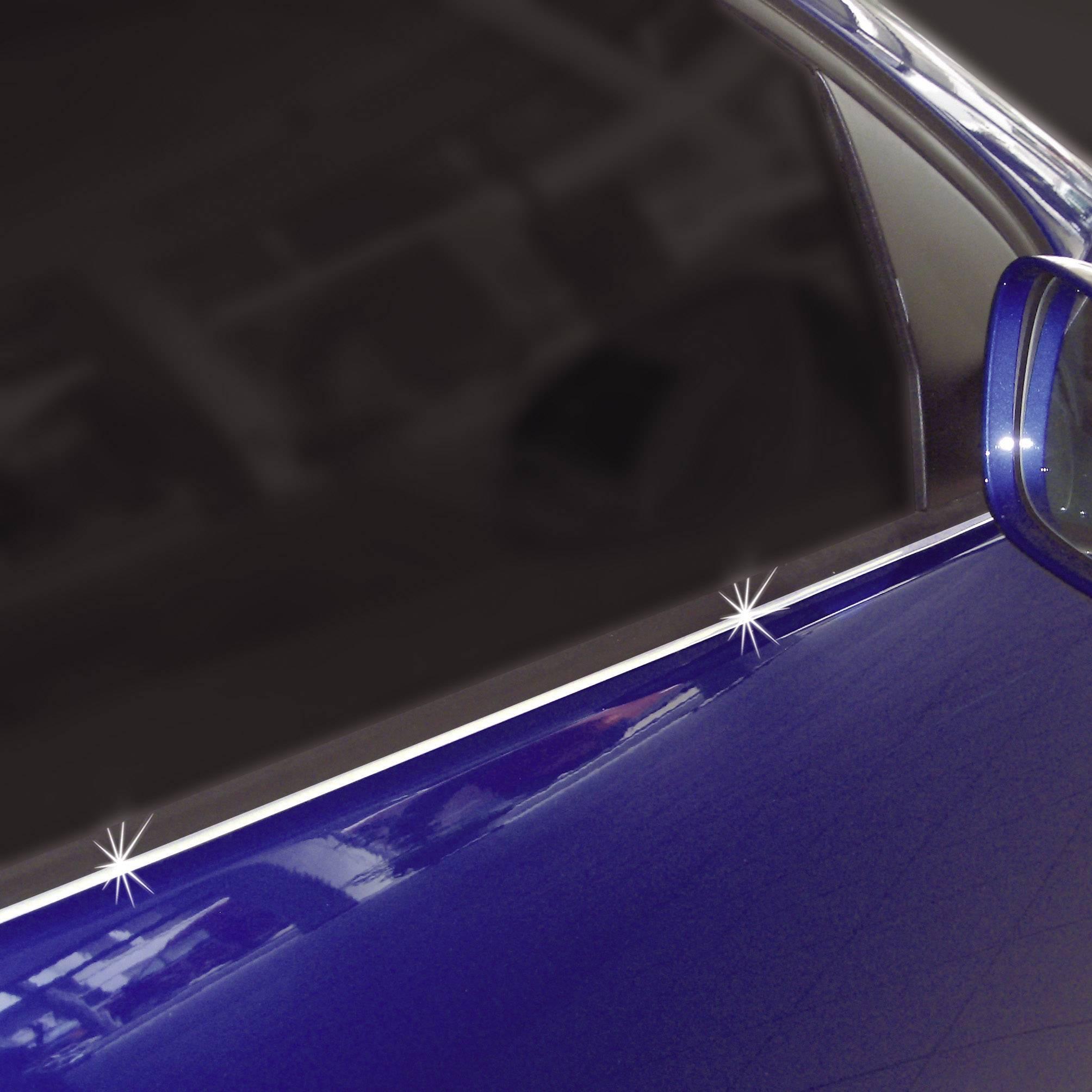 Samolepící chromované ozdoby automobilů 7x4 mm, délka 3 m
