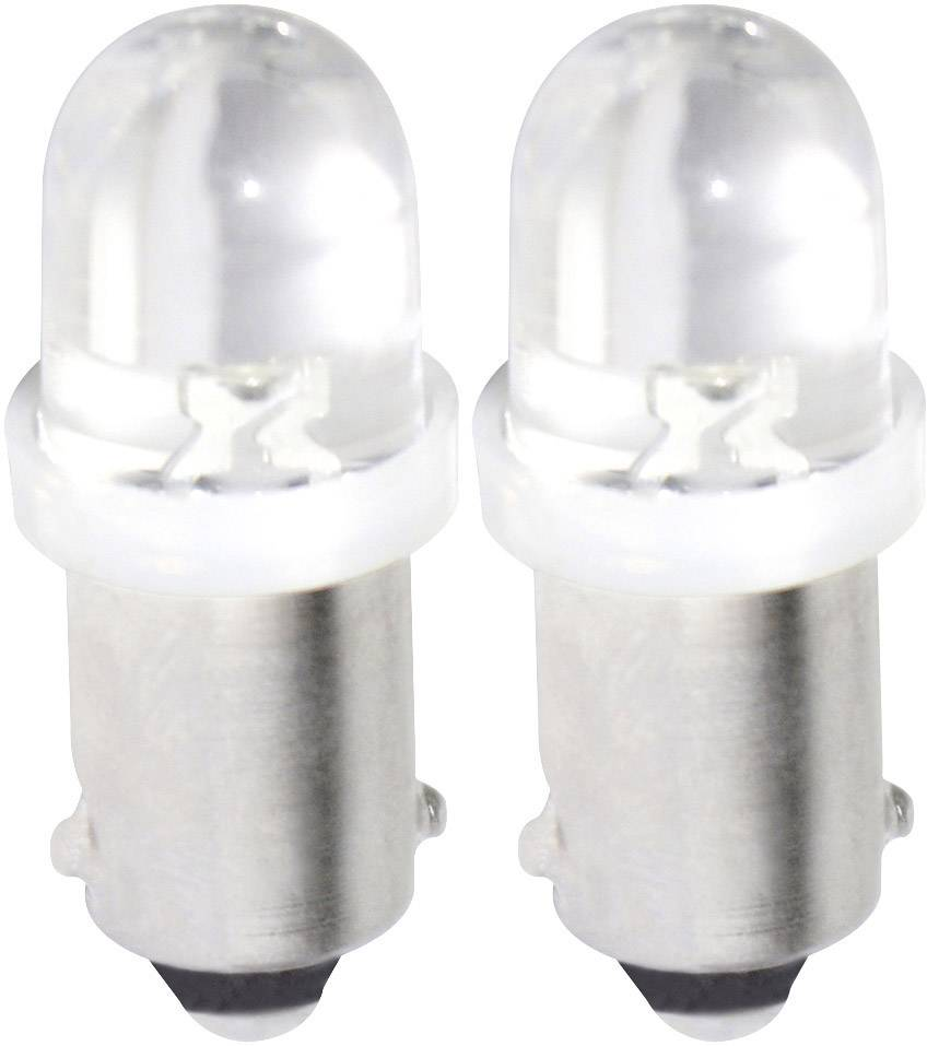 LED žárovka Eufab, 13280, 12 V, BA9s, bílá, 2 ks