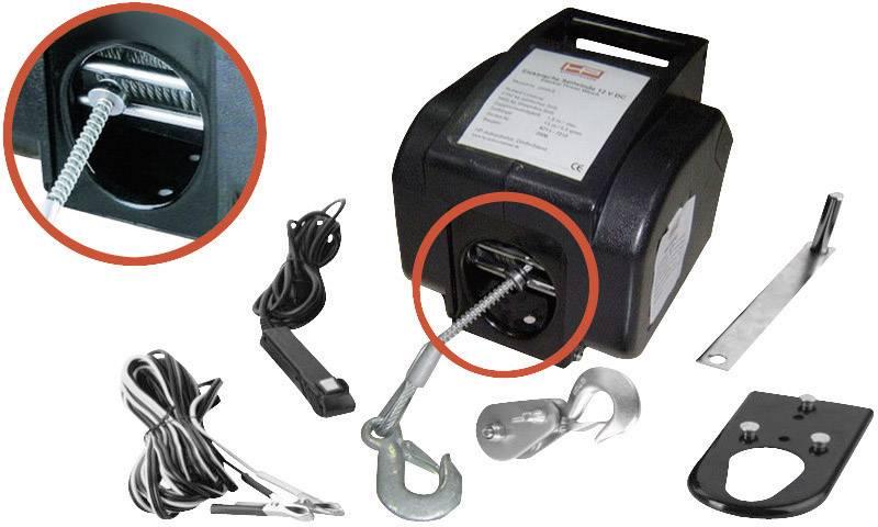 Motorový autonaviják HP Autozubehör 20601, 900 kg, káblové ovládanie