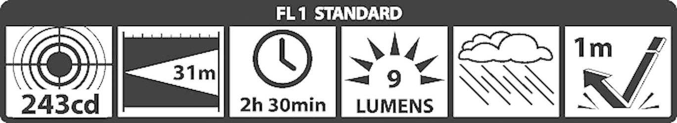 Kapesní svítilna Mag-Lite Mini 2 AAA, M3A016, 3 V, kryptonová, černá