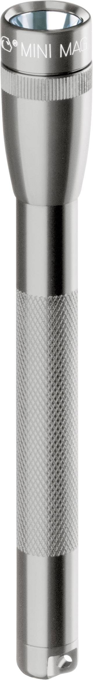 Kapesní svítilna Mag-Lite Mini 2 AAA, M3A096, 3 V, kryptonová, šedá/titan