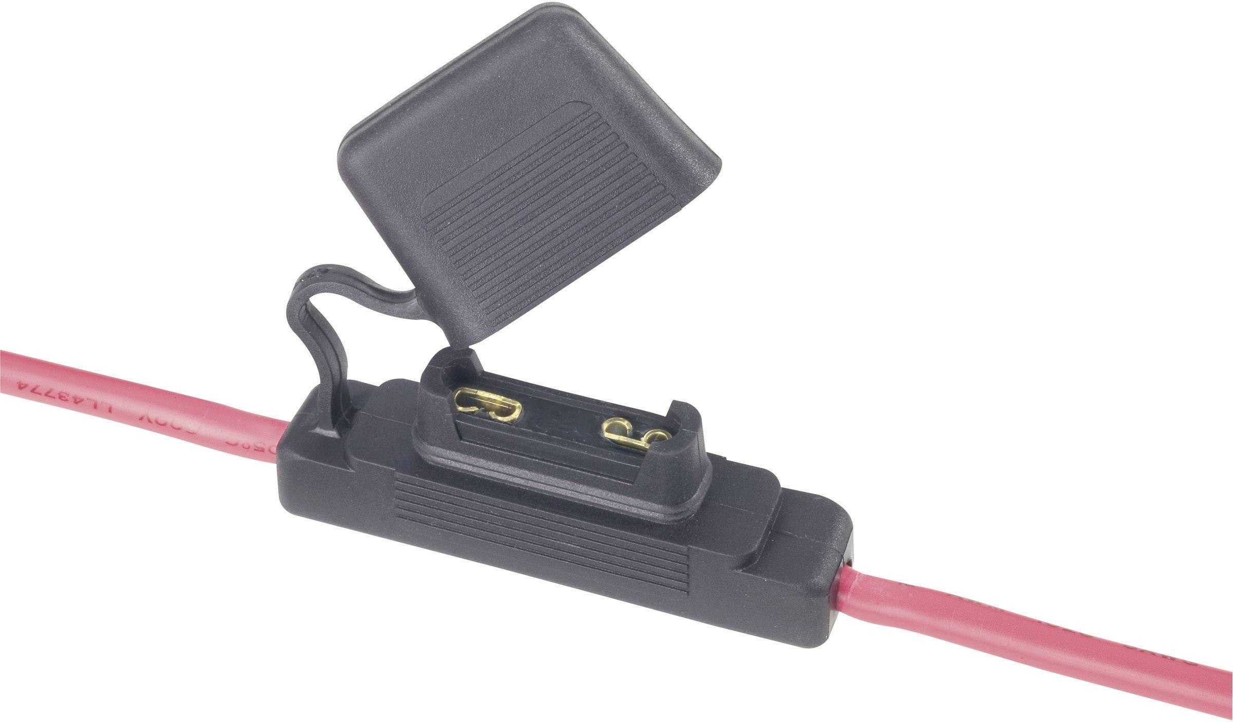 Držák plochých pojistek, 10 mm², 60 A