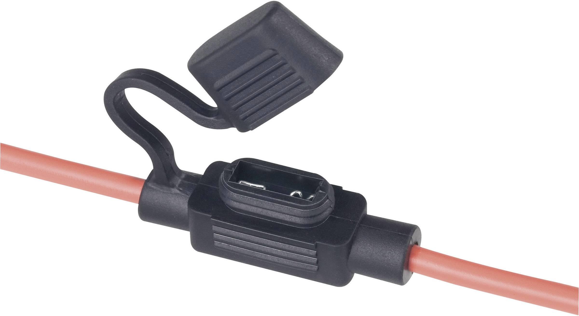 Držák plochých pojistek, kabel 4 mm²
