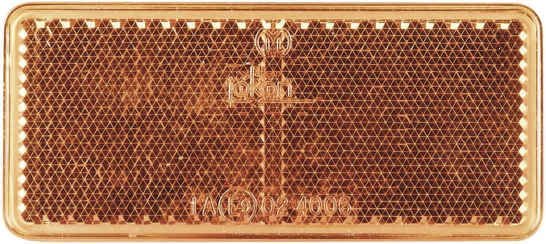 Odrazka Secorüt, hranatá, 90 x 44 mm, oranžová