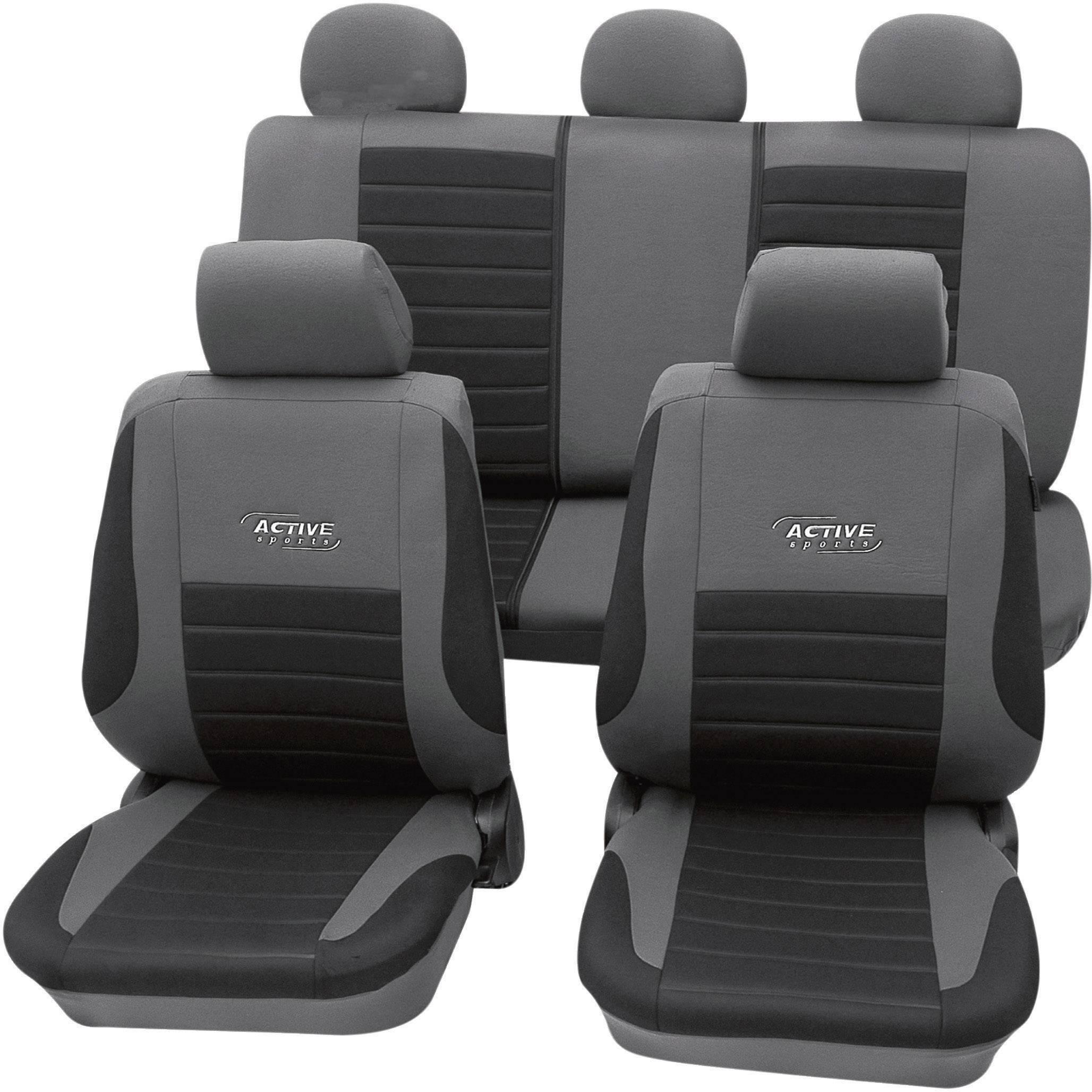 Autopoťahy cartrend Active 60122, 11-dielna, polyester, strieborná