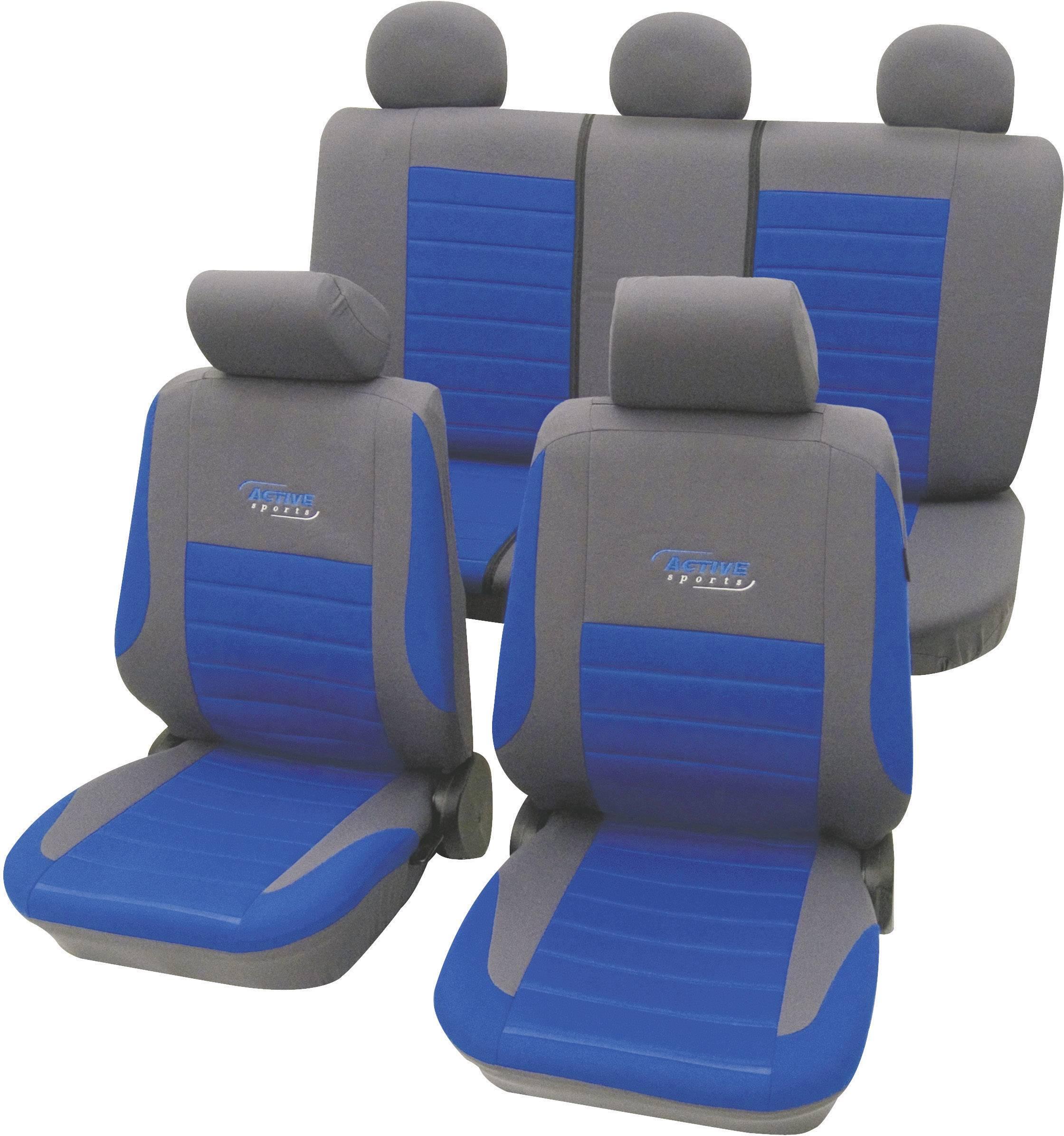 Autopoťahy cartrend Active 60120, 11-dielna, polyester, modrá