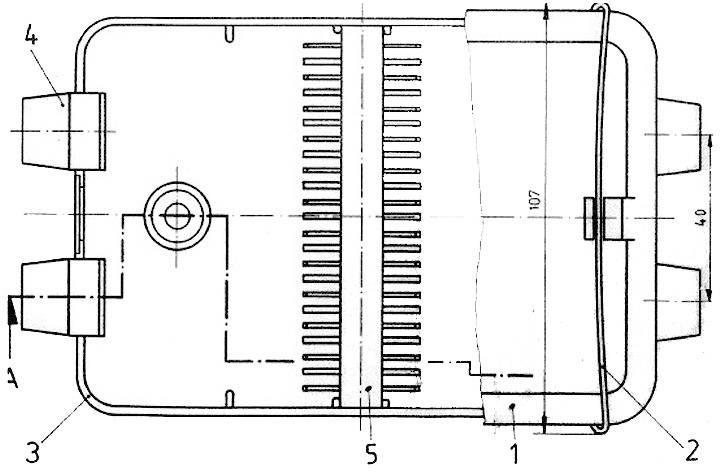 Rozvodná krabice SecoRut, 12 pin, upevnění drátovým třmenem