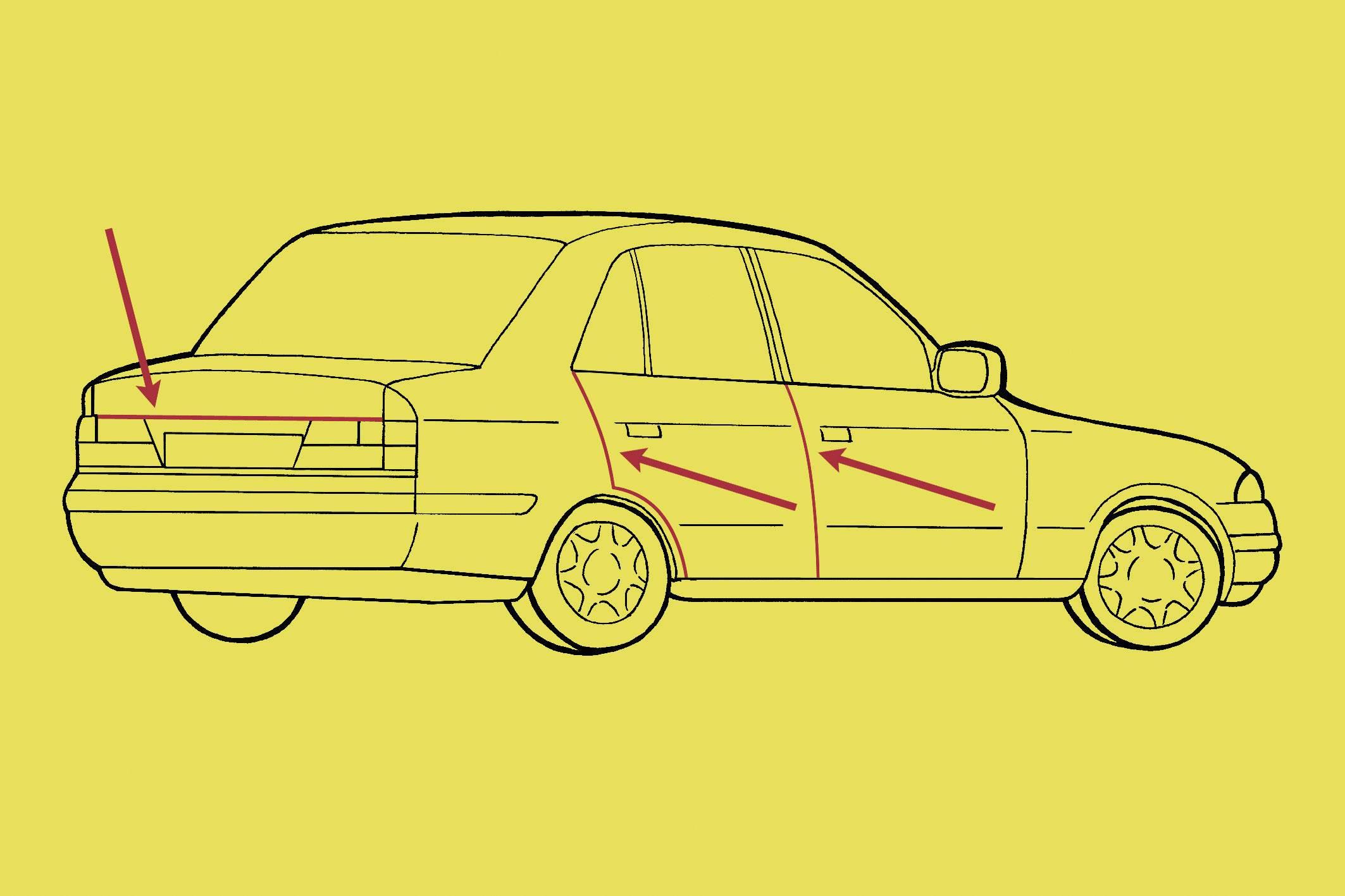 Ochranná lišta na dvere auta 18279, chróm