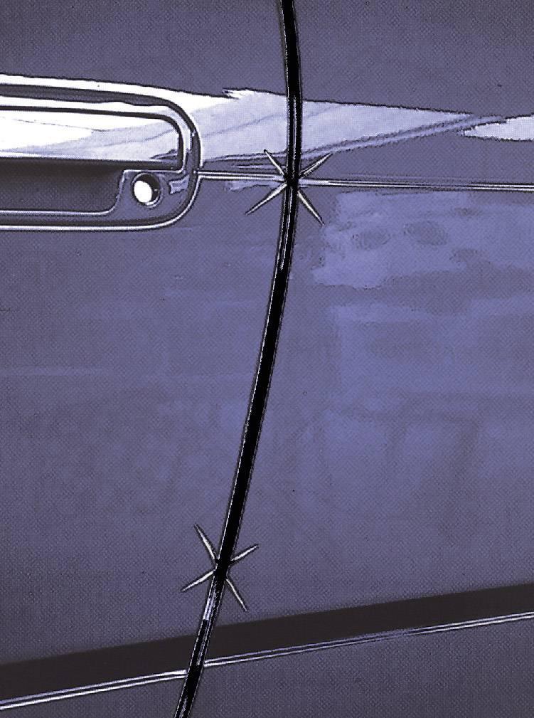 Ochranné nálepky na dveře, černé