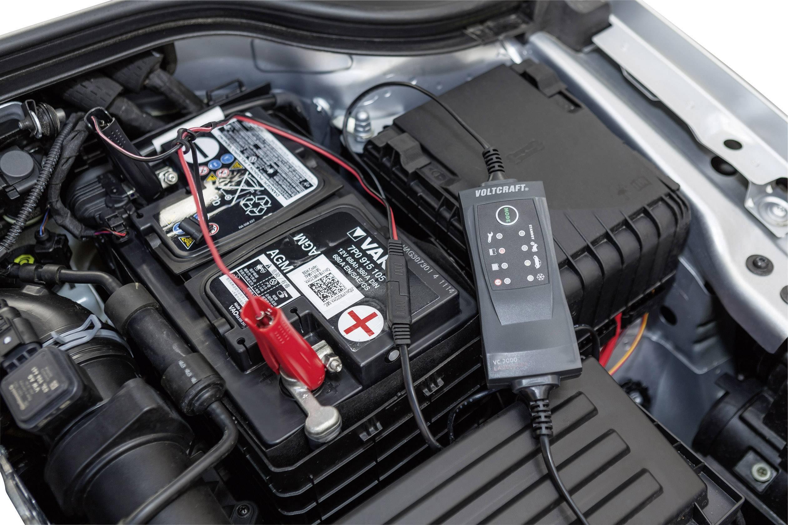 Automatická nabíječka autobaterií Voltcraft VC 2000, 1,5/5 A, 12 V