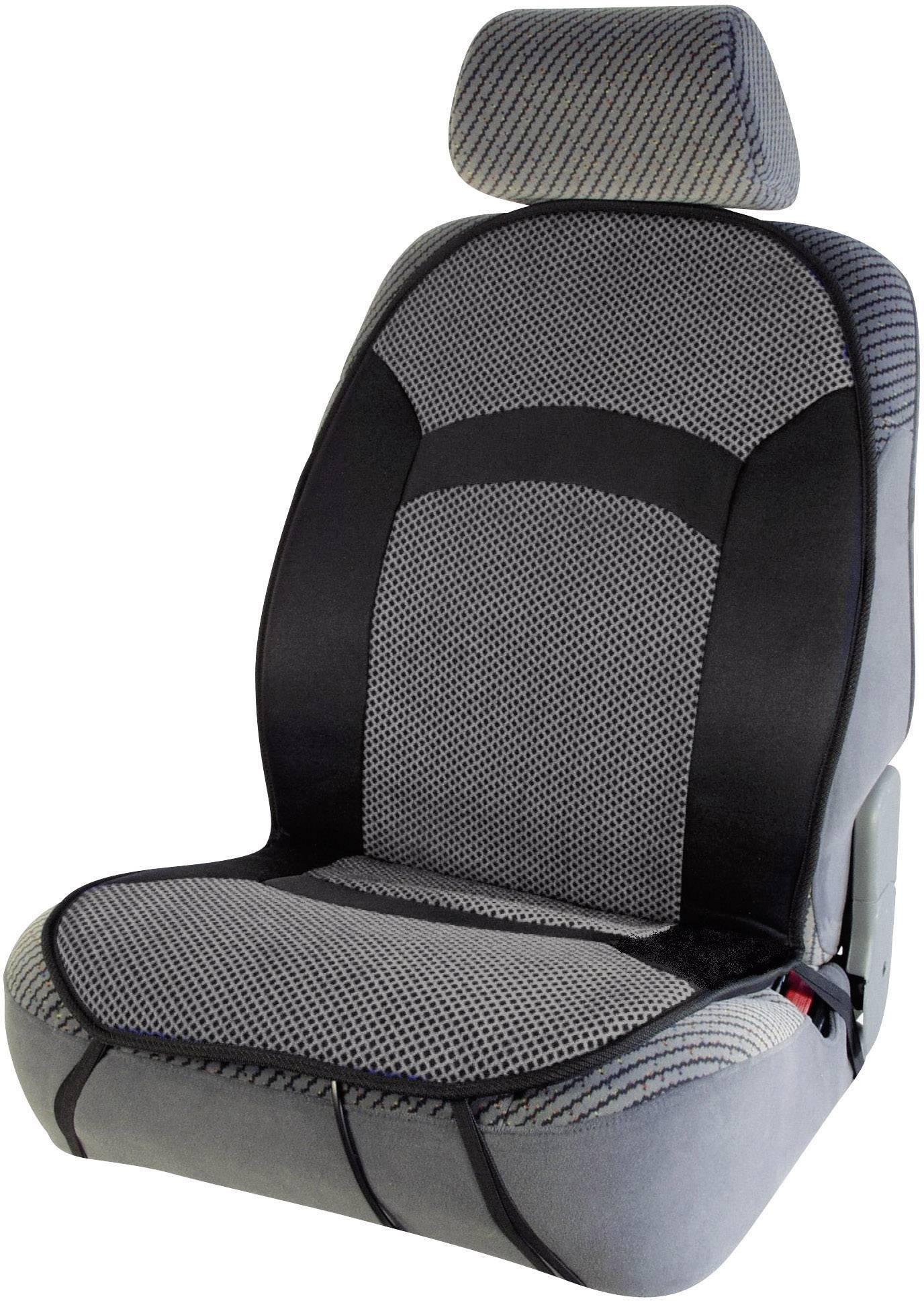 Vyhrievaný poťah na sedadlo, cartrend 60102, 12 V, čierna, sivá