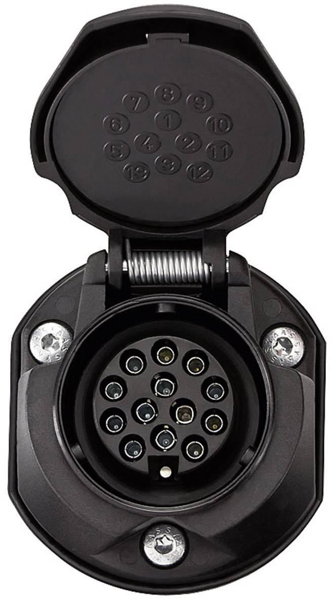 Zásuvka na zapojenie prívesu SecoRüt 30135, [13 pólová zásuvka - 13 pólová zástrčka], 12 V