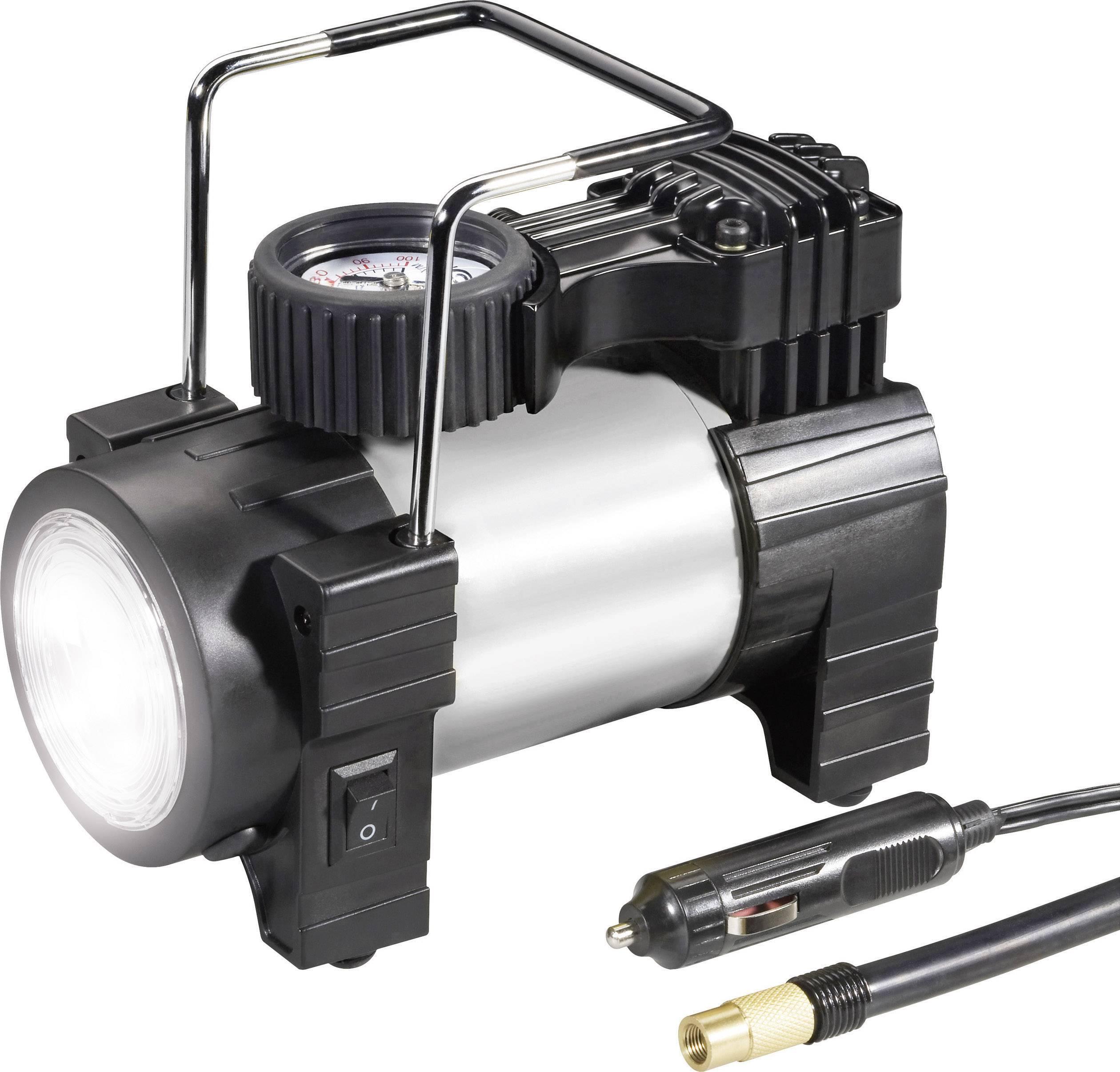 Auto kompresor s LED baterkou, 12 V